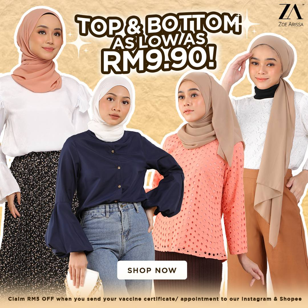 AS LOW AS RM9.90!