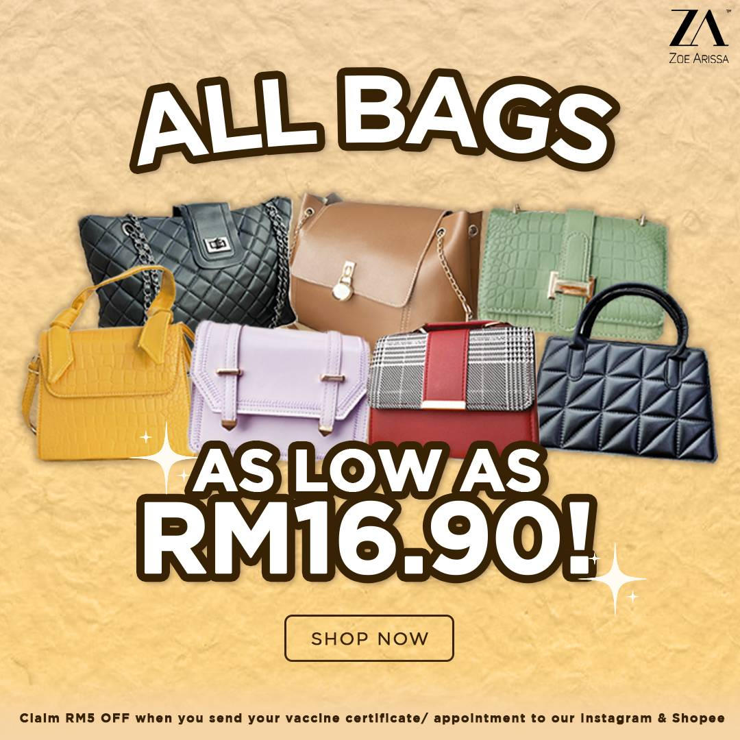 ALL BAGS UNDER RM20